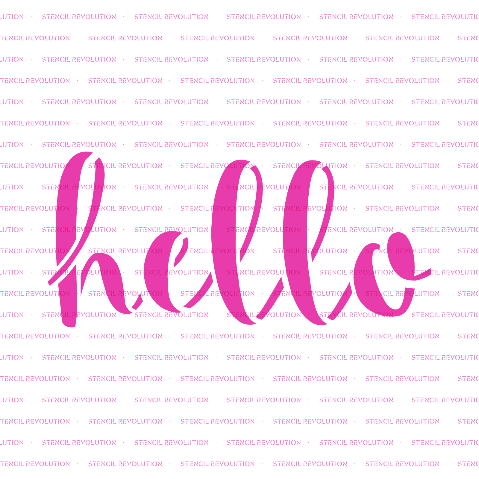Hello Stencil - Durable & Reusable Mylar Stencils