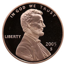 2005-S Lincoln Memorial Cent Penny Gem Proof US Mint Coin Uncirculated UNC - $7.99