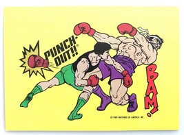 Punch Out Little Mac BAM #28 1989 Nintendo Topps GamePack Sticker Cards - $3.95
