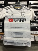 Adidas Lafc Youth Away Jersey (juvenil) White Silver Size Youth XL   Only - $64.35