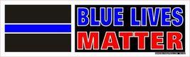 Blue Lives Matter Vintage 3X10 Vinyl Political Sticker - $4.50