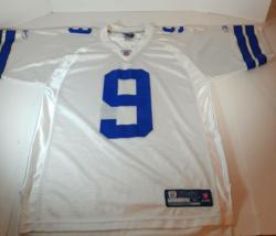 Dallas Cowboys Tony Romo 9 Reebok NFL Equipment On Field Mens Jersey Whi... - $23.75