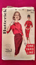 Butterick Pattern 9475 Size 16 RARE Complete ONE YARD LINE - EASY Vintag... - $11.98