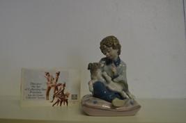 "Lladro ""BEHAVE"" Boy Scolding Male Puppy Dog Figurine #5703 MINT  SPAIN  ... - $93.06"