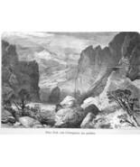 COLORADO Rocky Mountains Pikes Peak by Thomas Moran - 1883 German Print - $16.20
