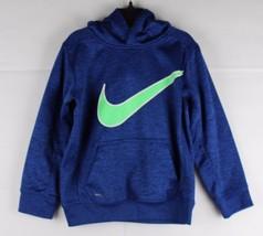Nike Niños Jóvenes Térmico Ajuste Baloncesto Estaciónate Hoodie Azul Tal... - $15.58