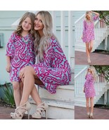 Family Matching Outfits Mother Daughter Dress Girls Kids Mom Fashion Floral Ski - $27.65