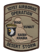 """ARMY 101ST AIRBORNE DIVISION DESERT STORM  4.25"""" EMBROIDERED MILITARY PATCH - $17.14"""