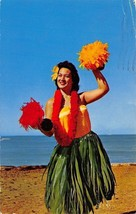 Hawaii~Kodak Hula Show~Hula Maid~1973 Postcard - $5.90