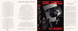 Ray Bradbury DARK CARNIVAL replication dust jacket for first edition book - $21.56