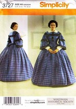 2007 Misses' DRESS of the Civil War Era Pattern 3727-s Sizes 8 to 14 UNCUT - $12.00