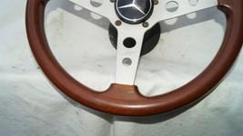 1977 Mercedes W123 R107 W107 Grant Wood Steering + Hub image 2