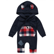 Newborn Baby Clothes Infant Boys Girls Romper Hooded Jumpsuit One Pieces... - $21.37 CAD+