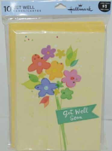 Hallmark C2671 Get Well Soon Cards and Envelopes Package 10