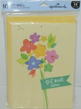 Hallmark C2671 Get Well Soon Cards and Envelopes Package 10 image 1