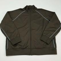 Gap Full Zip Jacket Men's Size 2XL XXL Long Sleeve Brown Blue Mock Neck Casual - $19.99