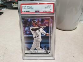 2019 Topps Series 2 ELOY JIMENEZ White Sox rc #670 ROOKIE Gem Mint PSA 1... - $42.75