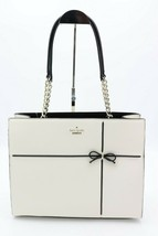 NWT Kate Spade New York Cherry Street Phoebe White Black Leather Shoulde... - $248.00