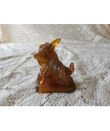 Retired Boyd Glass JB SCOTTIE DOG Nutmeg Figurine - $22.50