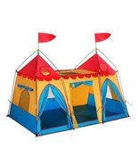 Kids Play Tent House Castle Indoor Outdoor Pop Up Portable Folding Child... - $45.44