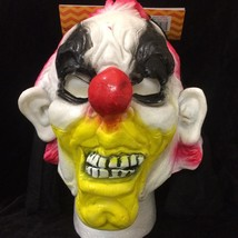 Halloween Evil Circus LATEX CLOWN HOODED MASK Cosplay Costume Accessory-... - $10.86