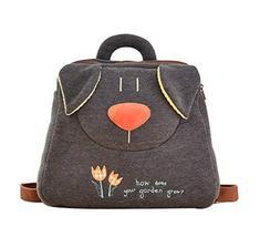 PANDA SUPERSTORE Creative Lovely Cozy Children's Backpack/Plush Backpack(Black) - $28.55