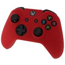 Xbox ONE © controlador piel silicona caso  roja  funda Gel goma protectora - $7.73