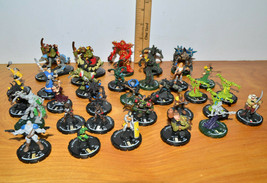 Mage Knight Miniatures Lot Of 31 Whiz Kids 2002 Plastic War Game Rpg Monsters - $31.92