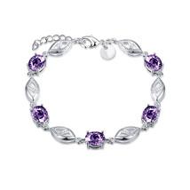 6 CT Oval Purple Amethyst Sterling Silver Bracelet - $12.73
