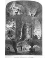 KENTUCKY Mammoth Caves Cavern - 1883 German Print - $25.20