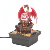 Tabletop Fountains, Small Red Dragon Indoor Water Fountain Tabletop With... - $33.99