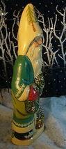 Vaillancourt Folk Art Santa Unwrapping Colonial Garland Signed Judi Vaillancourt image 4