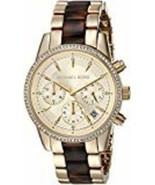 Michael Kors Women's 'Ritz' Quartz Stainless Steel Casual Watch (Model: ... - £68.72 GBP