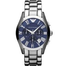 Emporio Armani AR1635 Blue Dial Stainless Steel Blue Dial Chronograph Watch - $149.99