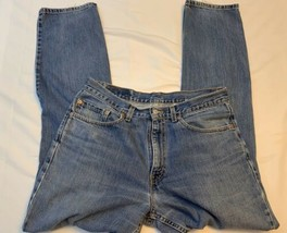 Levi 550 Relaxed Fit Light Fade Denim Jeans SZ  34x34 made in USA Vintage - $22.79