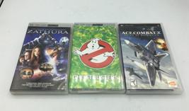 Sony PSP Game Lot Bundle  Zathura ACE of Combat X  Ghostbusters  - $18.69