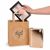 Kraft Paper Bags Bulk with Handles and Printed Thank-You Design for Gift NO BOWS image 6