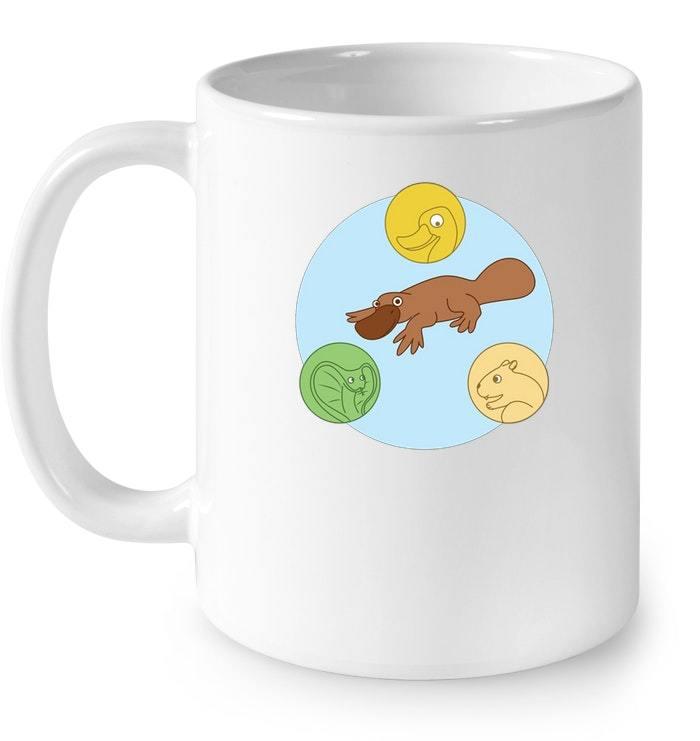platypus venn diagram ceramic mug duck snake beaver lover