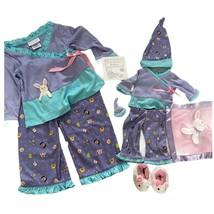 American Girl Sz 3 Girls Pajamas & Matching Bitty Baby Doll Outfits Set - $96.00