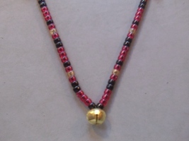 A TOUCH OF CLASS ~ HORSE RHYTHM BEADS ~  Red, Black, Gold Sparkle ~ 54 i... - $17.00