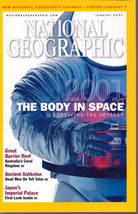 National Geographic January 2001 The Body in Space, Great Barrier Reef, ... - $3.99