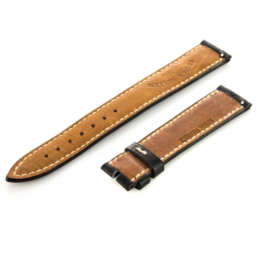 Franck Muller Geneve Leather Black 16-14mm Watch Band
