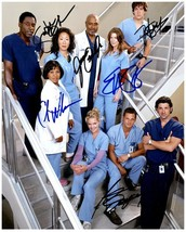 GREY'S ANATOMY Cast  - Autographed Signed  Photo w/COA - 27085 - $240.00