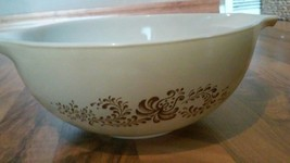 Vintage Pyrex 443 Cinderella Mixing Bowl. Brown Homestead Print 2 1/2 Liter - $20.29