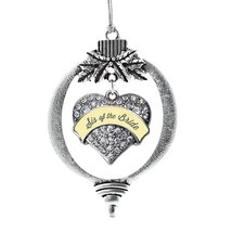 Inspired Silver Cream Sis of Bride Pave Heart Holiday Decoration Christmas Tree  - $14.69