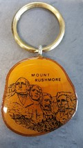 Mount Rushmore Souvenir Collectible Key Chain Wood Monument Ring Vintage... - $12.86