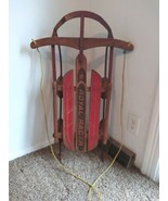 "36"" Royal Racer  Vintage Mid Century Wooden Sled  7136 - $56.09"