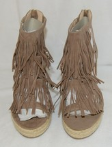 BF Betani Shiloh 8 Stone Fringe Wedge Heel Sandals Size 7 And Half image 2