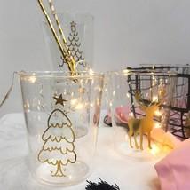 Special Drinking Glass Cup Mug Lighting Christmas Style Milk Juice Mug Beer - $43.57