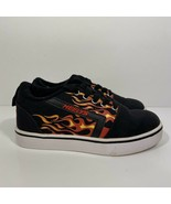 Heelys Youth Size 2 GR8 Pro Prints Black, Red, Fire Flame Shoes Sneakers... - $49.49